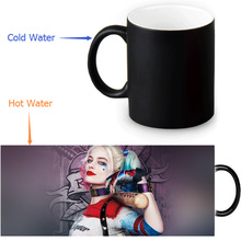 Suicide Squad mugs harley quinn mug Heat Sensitive Color Changing magic mug heat changing color transforming cup tea coffee cups