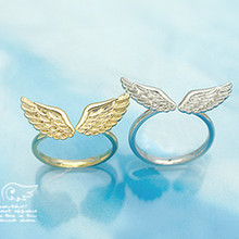 G163 Wholesales Hot New Anel Bijoux Fashion Shiny Small Angel Wing Finger Rings for Women Jewelry Accessories Open Anillos(China)