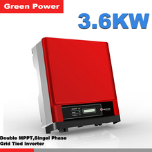 GW3600D-NS Goodwe Grid tied inverter,double MPPT single phase 230V 3.6KW output pure wave sine grid tied solar inverter(China)
