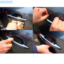 2017 hot car handle protection stickers accessories for bmw e30 polo golf audi q3 honda accord 2003-2007 hyundai santa fe(China)