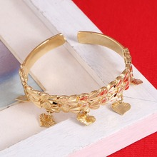 Kids Baby Boy Girl Jewelry Bangles Gold Color Kid Bangle & Bracelet Ethiopian Heart Jewelry For Children(China)