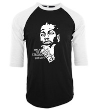 funny Allen Iverson Portrait print t-shirt men 2017 summer cotton fitness tee shirt homme three-quarter sleeve raglan camisetas