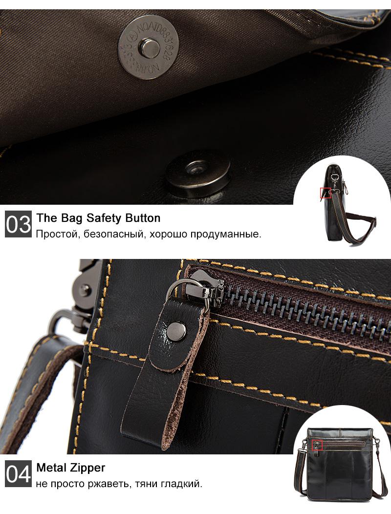 6 men genuine leather bag