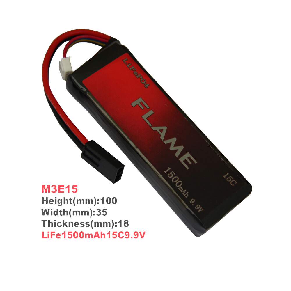 1pcs 100% Orginal Flame 9.9V 1500mAh 15C LiFePO4 Battery FLAME-POF4-06 M3E15<br>