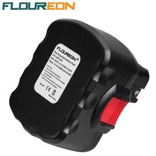 FLOUREON BAT038 14.4V 3000mAh Power Tools Rechargeable Batteries Pack Replacement Cordless for Bosch Drill 3660CK Ni-MH Black
