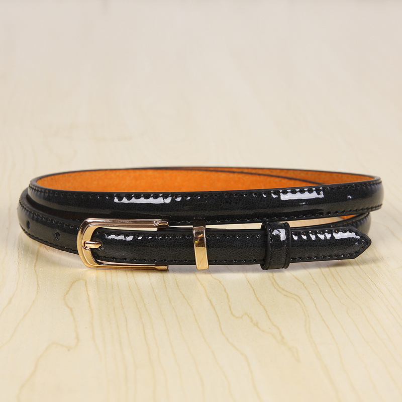 17 New Girls Black White Blue Yellow Brown PU Waist Belt Female Fashion Womens Leather Waistband Belts for Jeans Wholesale 4