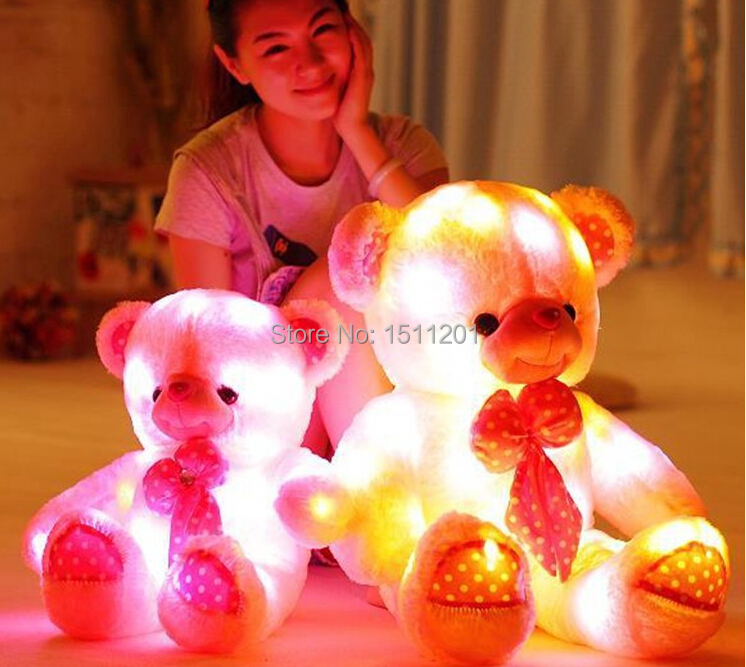 New arrival luminous teddy bear plush toy doll birthday ice cream Valentines Day gift to send girls<br>