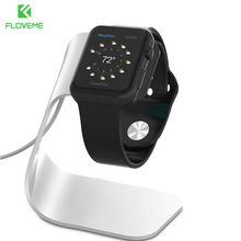 FLOVEME Metal Aluminum Charger Stand Holder for Apple Watch Bracket Charging Cradle Stand for Apple Watch 2 3 SmartWatch Holder(China)
