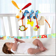 Newborn Baby Stroller Toys Lovely Dog Model Baby Bed Hanging Toys Educational Baby Rattle Toys WJ367(China)
