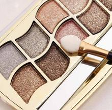 Professional Makeup Eyeshadow Palette Gold Makeup Palette Diamond Bright Glitter Mineral Eye Shadow Pomade Cosmetics with Brush