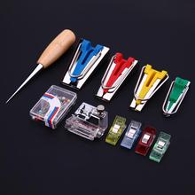 Buy 11pcs Kit Bias Tape Makers Binding Machine Sewing Quilting Hemming Tool Set Binder Foot Domestic DIY Sewing Hand Tools for $10.14 in AliExpress store