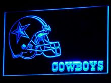 b317 Dallas Cowboys Helmet Neon Signs Led Signs with On/Off Switch 20+ Colors 5 Sizes or Multi Color with Remote Control(China)