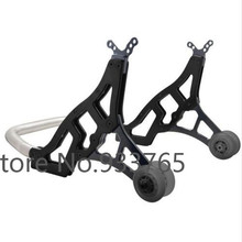 Black Universal Racing Motorcycle Sport Rear Combo Wheel Lift Stands Paddock Stands