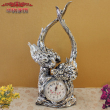 home decoration accessories bird Home Furnishing decorations clock practical crafts Clock New Wedding ornaments resin