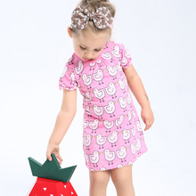 Princess Dress Robe Fille Enfant 100% Cotton Baby Girls Summer Dress Kids Costumes Tunic Jersey Toddler Dresses Girls Clothes