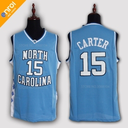 95e1fc324ff Cheap Retro Vince Carter Basketball Jersey 15  North Carolina Throwback  Stitched Embroidery High Quality Shirts For Men