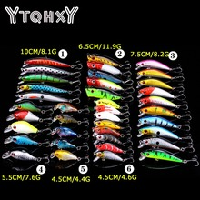 YTQHXY 38pcs/lot Fishing Lures Mixed 6 Model Minnow Lure Pesca Artificial Quality Crankbait Wobblers Fishing Tackle YE-112(China)