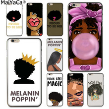 Buy MaiYaCa MELANIN POPPIN Black Gir New Arrival Fashion phone case cover Apple iPhone 8 7 6 6S Plus X 5 5S SE 5C Cover for $1.41 in AliExpress store