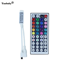 Tanbaby 1pcs New 12V 6A mini 44Key IR Remote controller rgb led Controller for SMD 3528 5050 RGB LED SMD Strip Lights