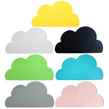 2017 New Fashion Cute Cloud Shape Silicone One Mat Modern Kitchen Dining Table Decor pink/gray/white/black/blue/yellow/green