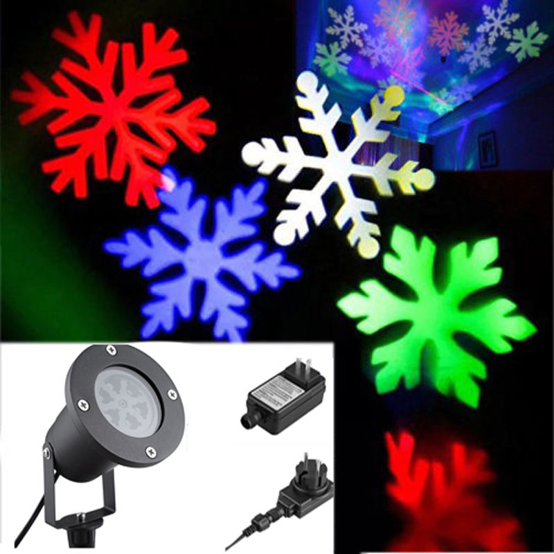 AKDSteel Landscape Lamp Outdoor Snowflake LED Stage Light Garden Moving Snow Laser Projector for Christmas Party Decoration<br>