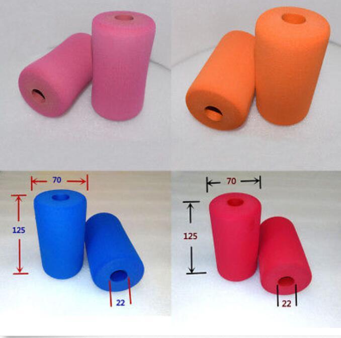 2Pcs Fitness Equipment Sponge Foam Rubber Tube Wrap Handle Grips Pipe