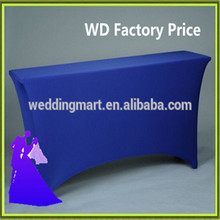 Universal blue table cloth wedding event spandex  fabric free shipping