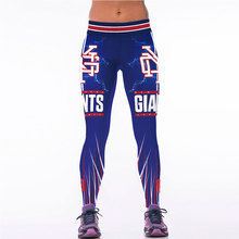 Sexy New Legging 3D Print Women Pants Trousers Sport Gym American Football Giants Fitness Legging Leggins Joggers Sportswear