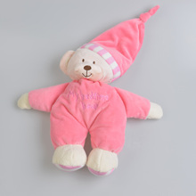 Plush Bear Dolls Stuffed Toys Baby Sleep Dolls Animal Baby Crib Bed Toddler Pillow Toys For Children Peluche Jouet Festivel Gift