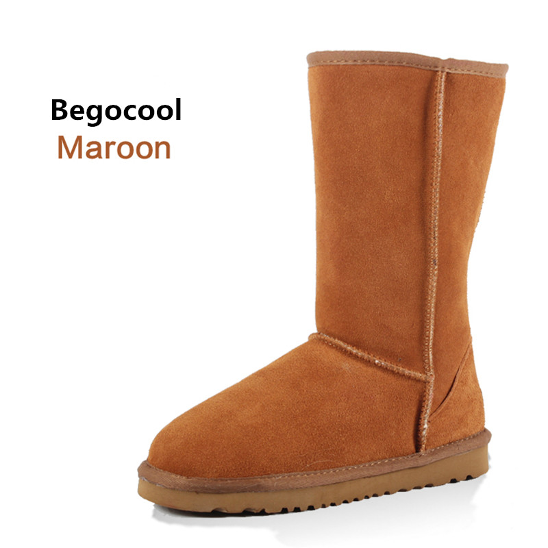 Begocool Fur Snow boots women 2017 Top High quality Australia Boots Button Winter Boots for women Warm Botas Mujer Size US 4-13<br>