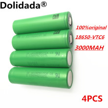 4 pcs 100% original 3.7 V 3000 MAH Li ion rechargeable 18650 battery akku to us18650vtc6 vtc6 30A toys tools flashlight