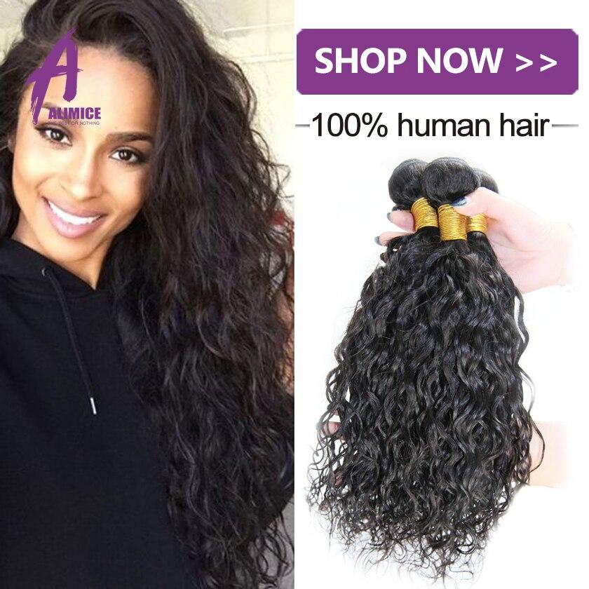8a Grade Alimice Brazilian Hair Weave Bundles 4 Bundles Natural Wave Virgin Hair Water Wave Wet And Wavy Human Hair Extensions<br><br>Aliexpress