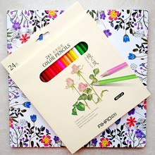 HOT 96 Pages Friendly Forest coloring book+24pcs color pencil For Children Adult antistress painting Drawing Art Colouring Books