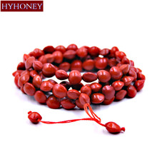 HYHONEY Bracelet men Red beads Sandalwood Buddhist Buddha Wood Prayer Bead Mala Unisex bracelets & bangles Women jewelry bijoux