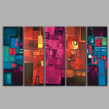 Five Panels Abstract Oil Paintings in High Quality Group Oil Painting 5 Pieces Designs