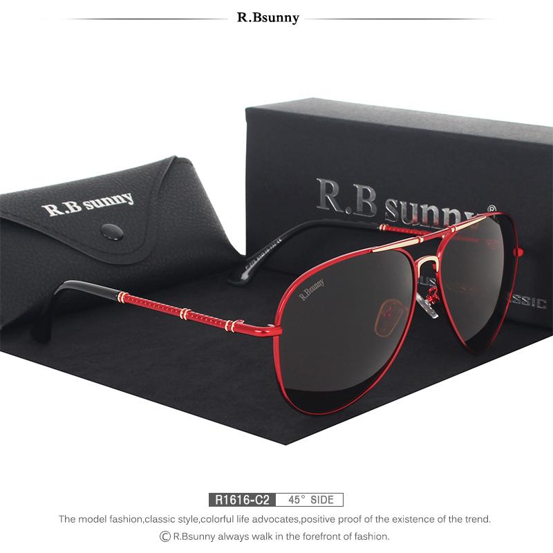 Fashion women sunglasses High quality classic brand polarized HD men sunglasses Driving Anti-glare UV400 Goggle R.Bsunny R1616 6