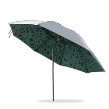 Three-folding Umbrella Lightweight UV Sunshade Fishing Umbrella Camouflage Parasol Patio Garden Umbrella Rainproof