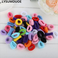 50Pcs Girl Mini Elastic Bands Ponytail Holder Cotton Hair Elastic Baby Accessories Candy Ring Rope Children Jewelry Accessory