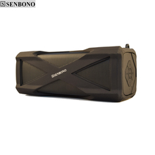 SENBONO A6  wireless  Waterproof Sport bluetooth Stereo speaker with Super Bass support MIC with big battery power bank