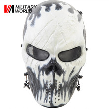 Durable ABS+ Metal Full Face Mask Mesh Eye Protector Paintball Accessories Mask for Outdoor Airsoft Tactical Sport