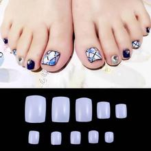500 Pcs White Natural Clear Plastic Fake Nails With Glue Full Nail Tips Artificial Stiletto Nails Toe Art