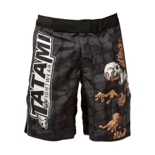 Black cartoon orangutan boxing training pants breathable sports mma  Tiger Muay Thai boxing shorts kickboxing cheap mma shorts