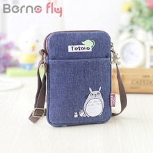 Berno fly Girls Cute Totoro Shoulder Bag Cartoon Bear Coin Purse Mini Messenger Bags Kids Gift Female Clutch Purse Phone bags(China)
