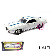 New In Box 1/43 Scale Road Signature 1969 Pontiac Firebird Trans Am Diecast Car Model White Toys for Boys Gifts Brinquedos(China)