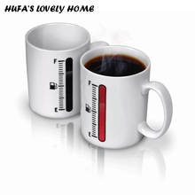 New Heat Sensitive Coffee Tea Ceramic Mug Creative Magic Color Changing Cup With Comfortable Handgrip Gift