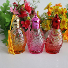 10ml Bottle of Essential Oil Bottle Small Roll On Glass Packing Perfume Bottle Perfume Shop Vials 4PCS/LOT