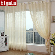 bIgmUm New Arrival Rustic Luxury Tulle Without Fringe/Sheer Curtains Tulle /Organza/Voile for Balcony Living Room Window Pink(China)