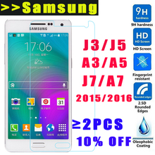 9H HD Tempered Glass Samsung Galaxy J5 J3 J7 A3 A5 A7 2015 2016 Screen Protector samsung A5100 Ultra-thin glass film - Raelson Store store