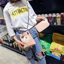 2017 New Arrived Girl Ladies Small Bag Single Shoulder Bag PU Leather Straw Handbag For Party Student Fashion Cute Handbag Set(China)