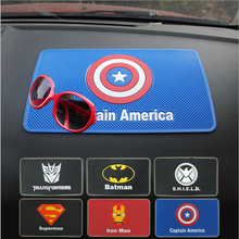 Car accessories mat non slip pad Captain America dashboard car slip sticker car sticky anti-slip mat in phone holders for car